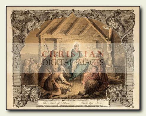 Large Size Printable Christian Digital Images - Nativity Scene - Historical Illustrations & Religious Stock Imagery & Clipart - www.christiandigitalimages.com