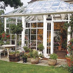 234 best images about conservatories greenhouses on for Sunroom attached to house