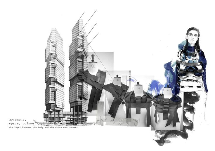 Fashion Portfolio - fashion illustration, draping & architectural references // Stefanie Tschirky