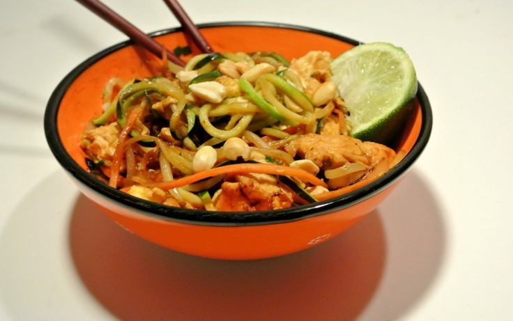 Let this Chicken Pad Thai with Zoodles be your go-to low-carb recipe the whole family will enjoy.