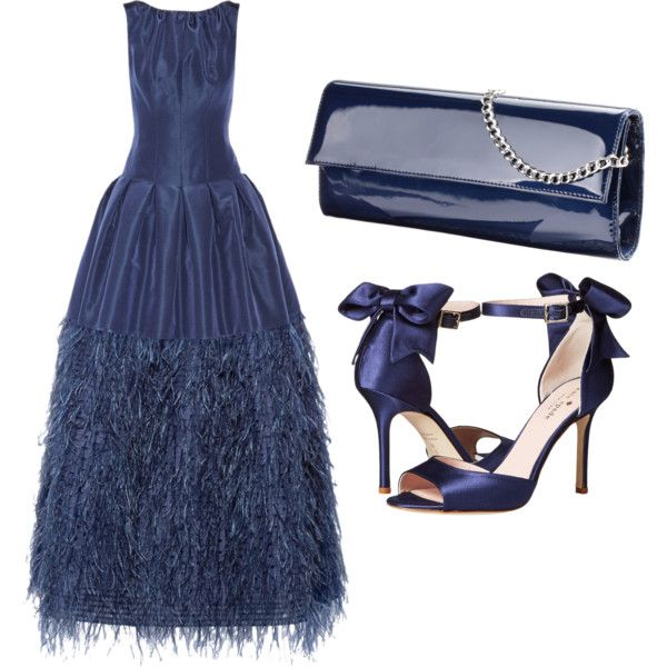 A fashion look from July 2017 featuring Oscar de la Renta gowns and Kate Spade sandals. Browse and shop related looks.