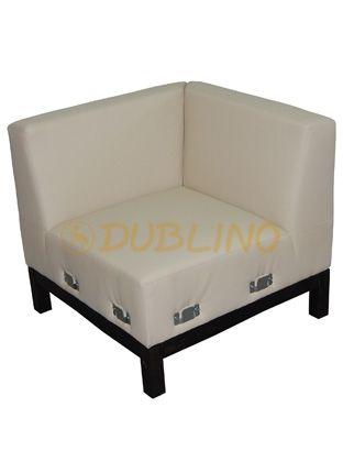 Dublino System/40/S - Luongeový roh lavice na bukových nohách.