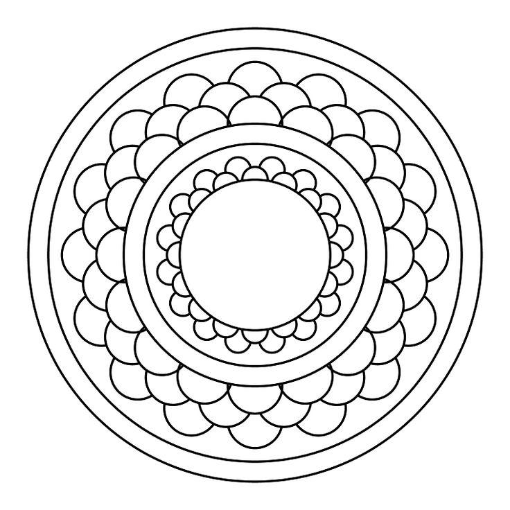 Disegni da colorare antistress, disegno di un mandala