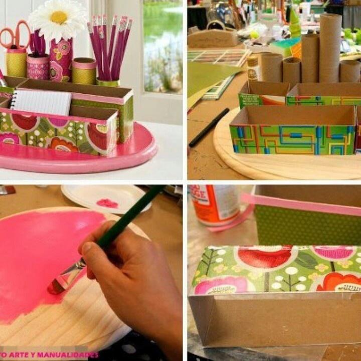 Ideas de reciclaje, madera carton y papel