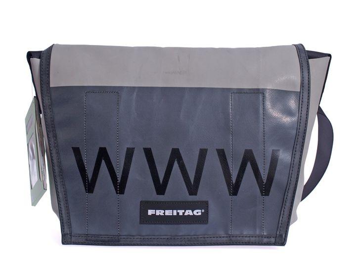 Messengertasche aus recycelter LKW-Plane von Freitag bei Kult-Design-Unikate