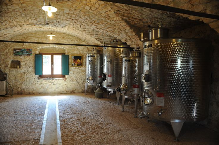 Cellar of Tenuta Santa Maria Vaalverde- fermentation of wines