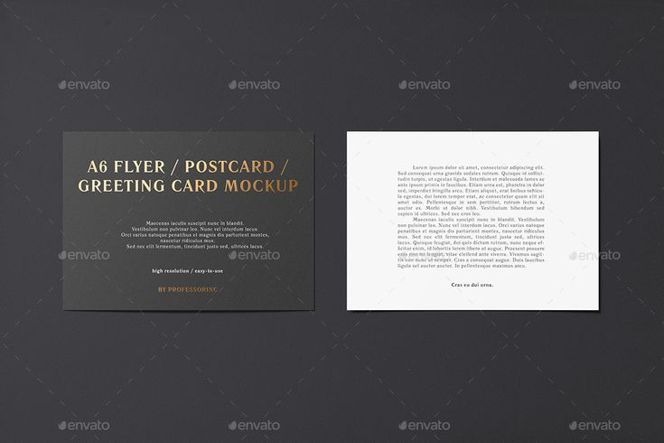A6 Flyer Mockup - Foil Stamping Edition #Mockup, #Flyer, #Edition, #Stamping