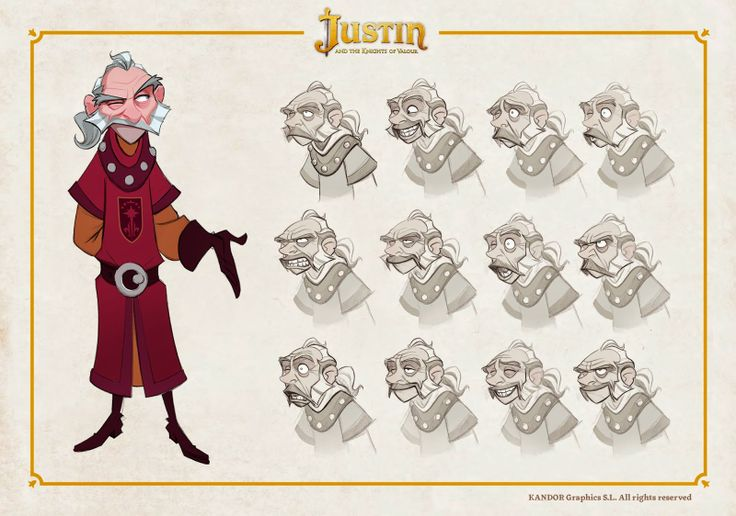 OSOKARO: JUSTIN AND THE KNIGHTS OF VALOUR IX: BLUCHER CHARACTER DESIGN
