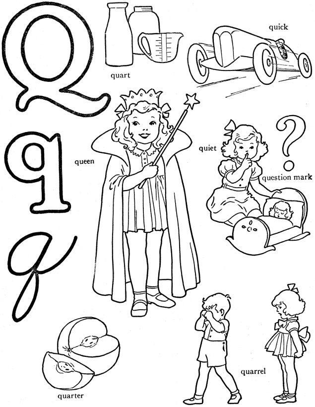 q coloring pages for kids - photo #14