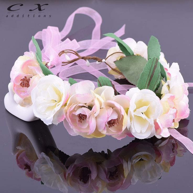 Camellia Rose Flower Leafy Fairy Halo Floral Crown Hair Wreath Head Wreath Wedding Headpiece Bridesmaid Forest Green Ivy Bridal