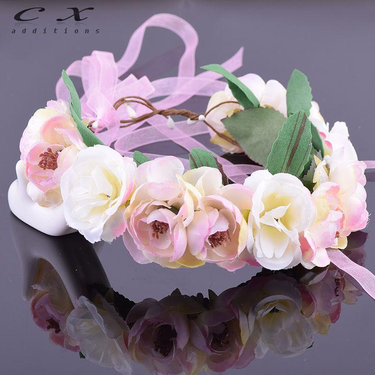 Camellia Rose Flower Leafy Fairy Halo Floral Crown Hair Wreath Head Wreath Wedding Headpiece Bridesmaid Forest Green Ivy Bridal
