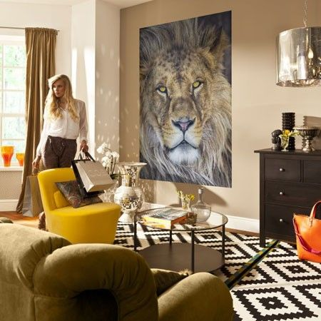 Muurposter Lion