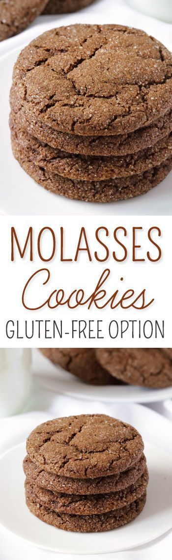 Soft and Chewy Molasses Cookies {gluten-free, 100% whole grain and dairy-free options}