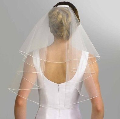 Isaac Mizrahi for Target® Short Wedding Veil Back View