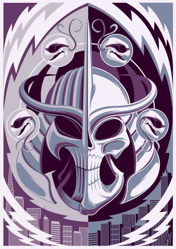 Master Shredder created by Chad Woodward