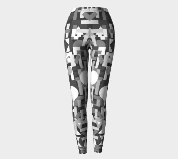 grey leggings with geometric print
