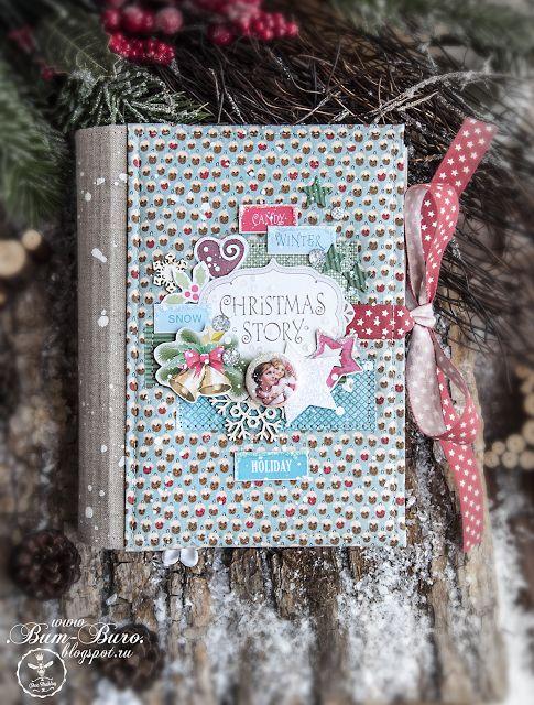 Bee Shabby: Блокнот на пружине из коллекции Christmas story