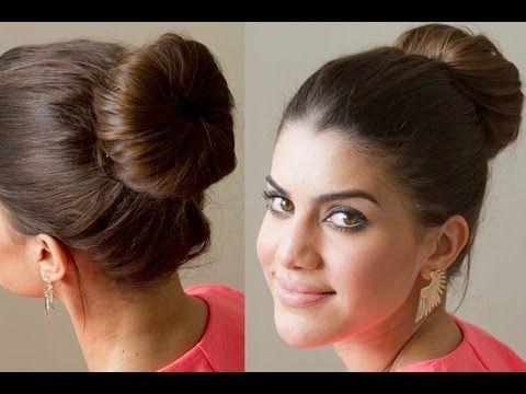 Moño alto clásico y formal.Classic high bun shape.Forme classique chignon haut. https://www.facebook.com/bagatelleoficial Bagatelle Marta Esparza  #moño #bun #chignon