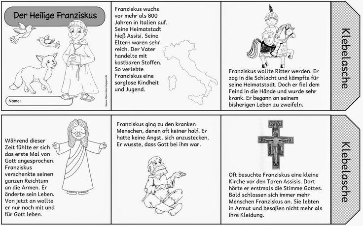 ideenreise leporello der heilige franziskus religionsunterricht pinterest religion. Black Bedroom Furniture Sets. Home Design Ideas