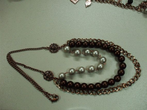 Hey, I found this really awesome Etsy listing at https://www.etsy.com/listing/227993091/three-strand-centerpiece-necklace