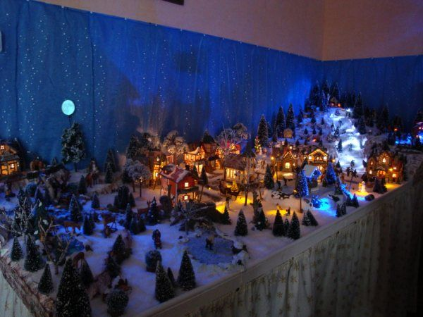 A voir phototh que merveilleux villages de no l les villages miniatures de no l de lalie - Village de noel miniature ...
