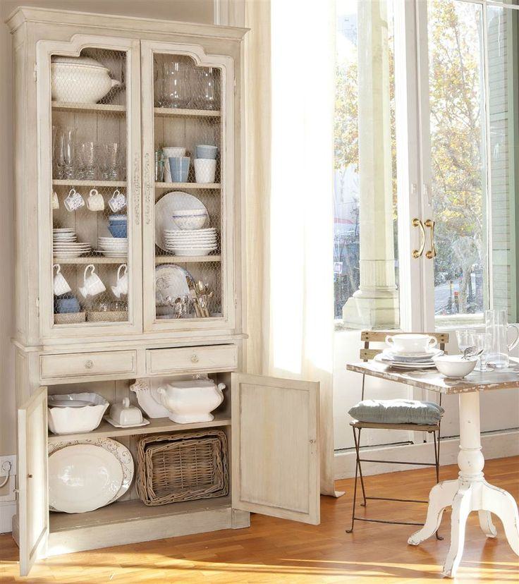 The 25 best alacenas antiguas ideas on pinterest - Vajilla shabby chic ...