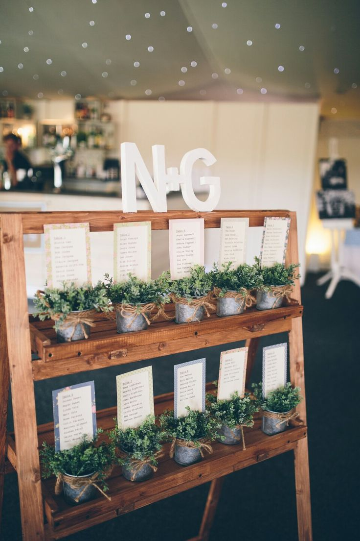 Rustic ideas for your seating plan.