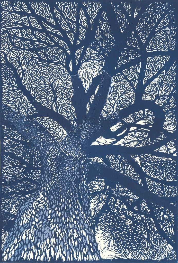 linocut tree- don't know the artist, but big respect to whomever they are