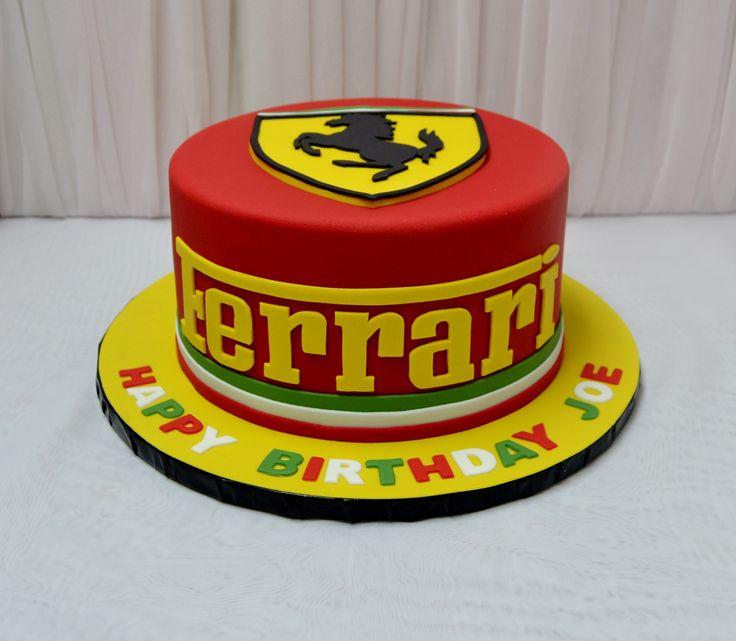 Ferrari F Car Cake