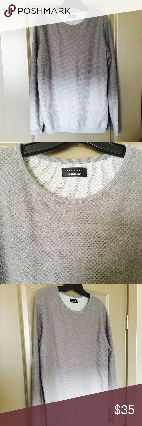 🎉SALE🎉Zara Fade Sweater Zara men's size L fade Sweater from dark gray to light gray. Brand new with tags. Can be dressed up or down! Zara Sweaters Crewneck