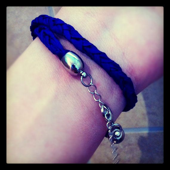 Bright Blue Braided Double Wrap Bracelet by TheGentleFlower