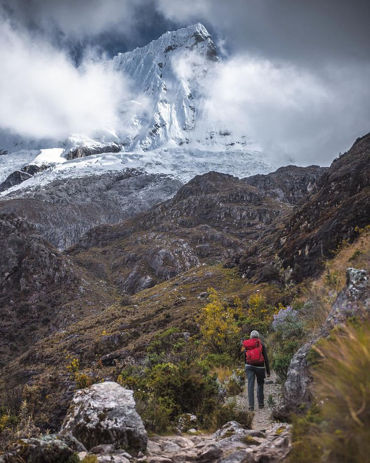 """""""Going to the mountains is going home""""  John Muir  A few phrases resonate as strongly with us as this John Muir quote. #Chacraraju see from our hike to #Lagun69 OverlandTheAmericas.com"""