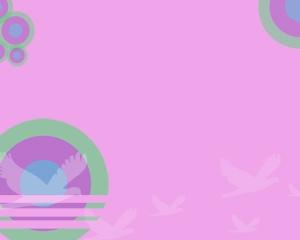 Diseño de PowerPoint gratis con palomas para usar en presentaciones con fondo abstracto y dibujos de palomas volando en la presentación