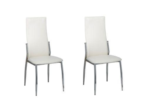 2 Esszimmerstühle Essgruppe Stuhlgruppe Sitzgruppe Küchen Stuhl Stühle weiß #Ssparen25.com , sparen25.de , sparen25.info
