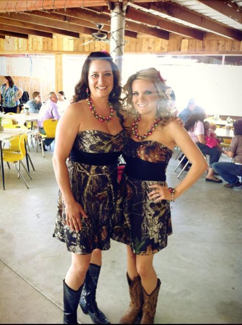 camo dress with boots. so cute. Im thinking bridesmaid dresses :)