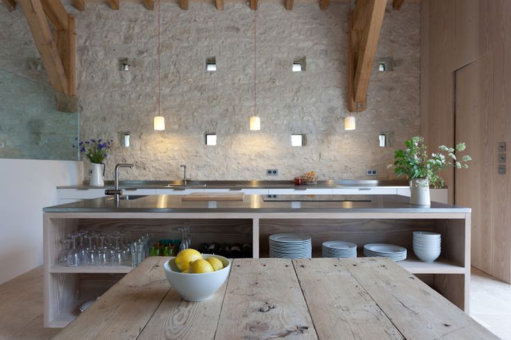 Vote for the Best Professional Kitchen: A Stone Barn in France by David Rose Interior Architecture