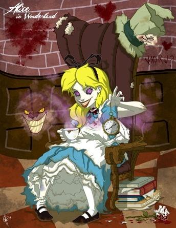 Evil Princess - Alice in Wonderland  Halloween theme