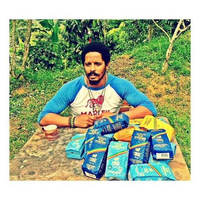 Sun shining weather is sweet. The Chairman @RoMarley on the farm in #Portland #Jamaica today. ☀️☕️