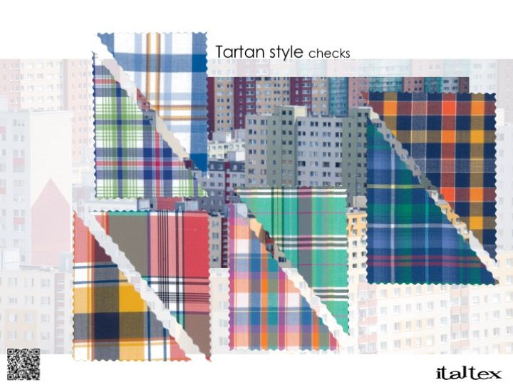 Fabric Trends 2020.Checks From The Italtex Online Color And Fabric Shirting