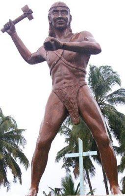 Esculturade  Colo- Colo cacique  araucno