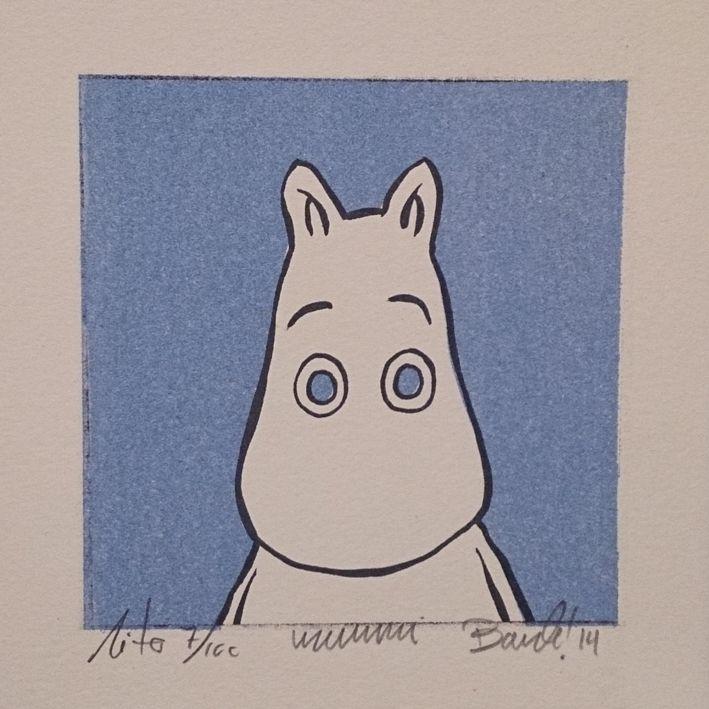 "Lithography ""Portrett av mummi"". 10x10 cm. Artist: Ronny Bank. Want it? Go to http://artbyhand.no/produkt/billedkunst/portrett-av-mummi"