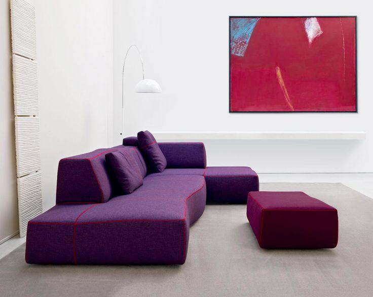Purple decorating ideas for your home: Bend-Sofa, Patricia Urquiola, B&B Italia, 2010 @bebitalia | #designbest #homedecor #design |
