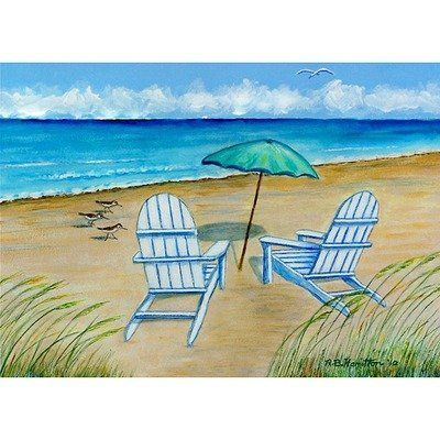 "Garden Adirondack Chairs Door Mat Size: 30"" H x 50"" W by Betsy Drake Interiors. $68.00. DM997G Size: 30"" H x 50"" W Features: -Material: Polyester.-Pattern: Adirondack chairs.-Made of synthetic washable material.-Will stand up to years of wear with a non-slip rubber backing. Collection: -Garden collection."
