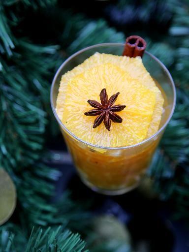 Recette de Salade d'oranges aux épices de Noël