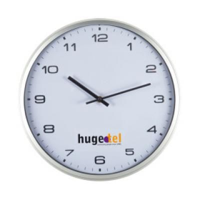 Image of Promotional Modern Wall Clock. Printed Wall Clock In White.