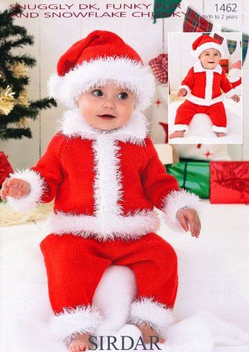Sirdar Snuggly DK Baby Santa Suit Christmas Knitting Pattern 1462: Amazon.co.uk: Kitchen & Home