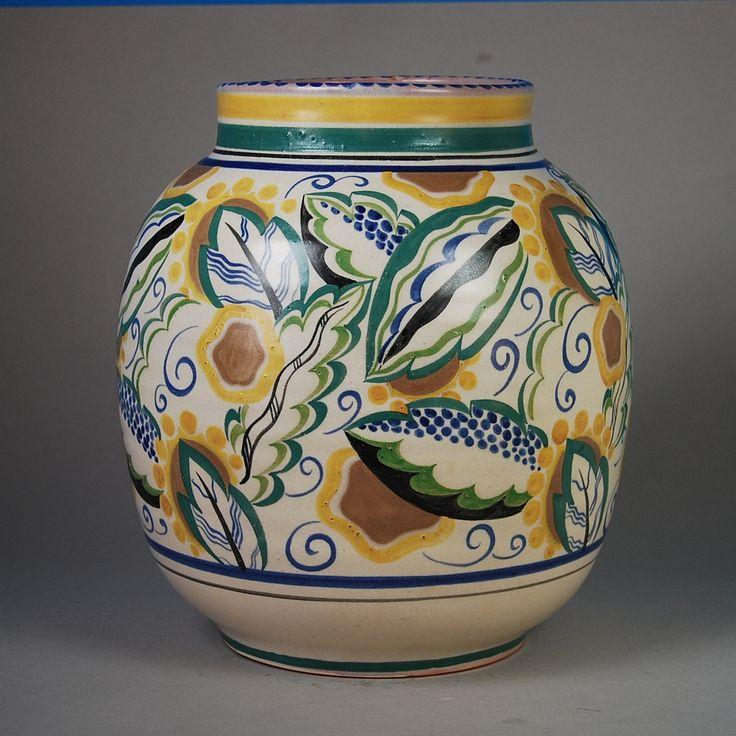 Large Poole Pottery Vase 1920s/30s 12''