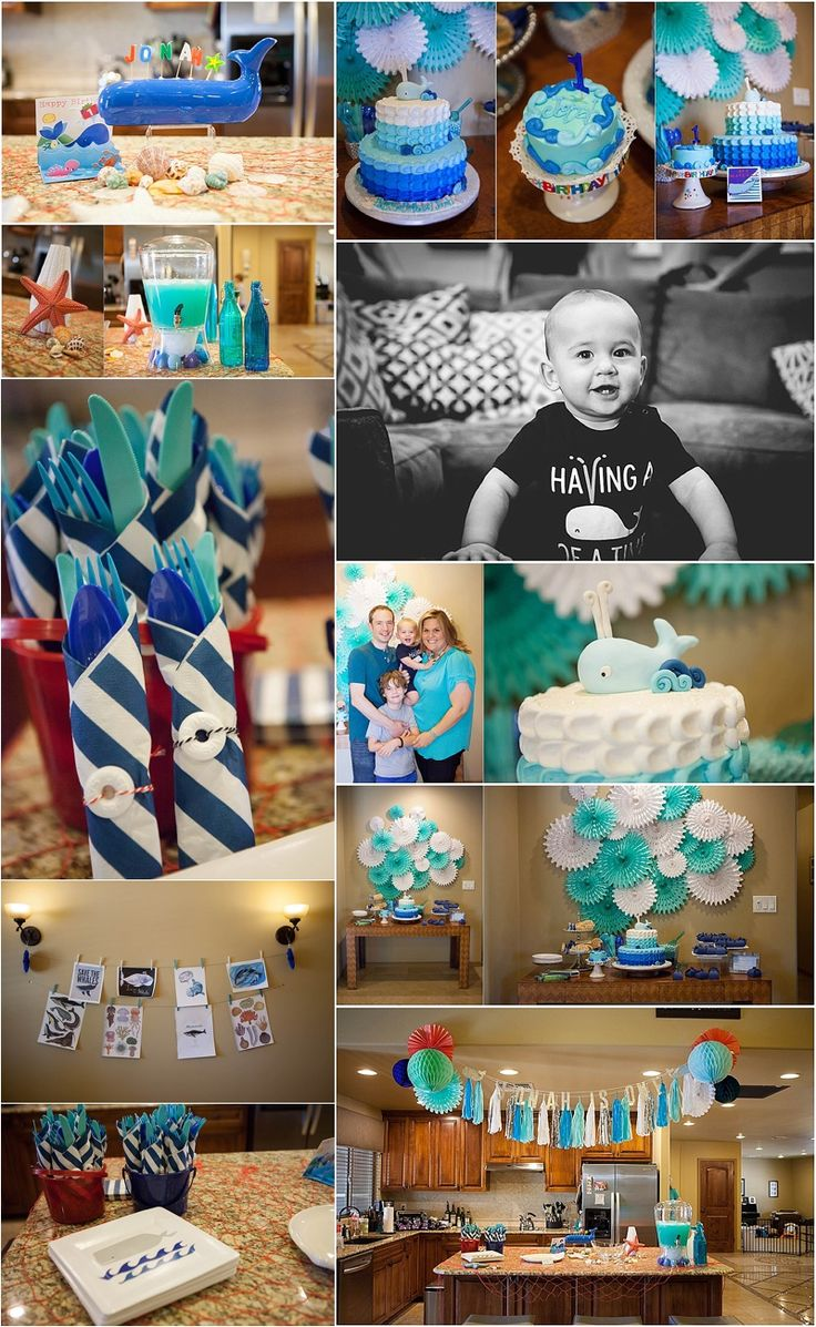 Whale Theme First Birthday Party Featured on Life + Lens Blog