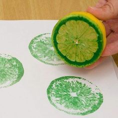 Plants We Eat vegetable printing! Lemons!! apples could be cool too, maybe kiwis?