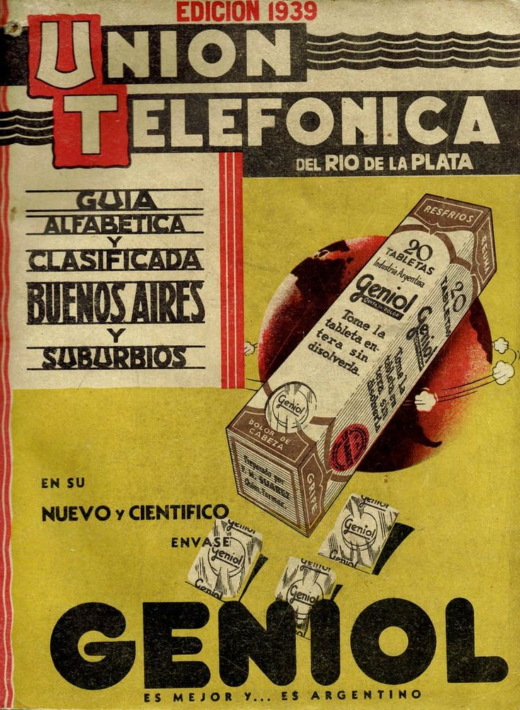 Portada de la Guía de la Unión Telefónica del Río de la Plata, 1939